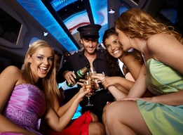 Night on the town limo hire